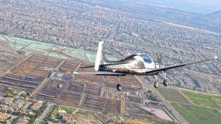 Mooney M10 first flight