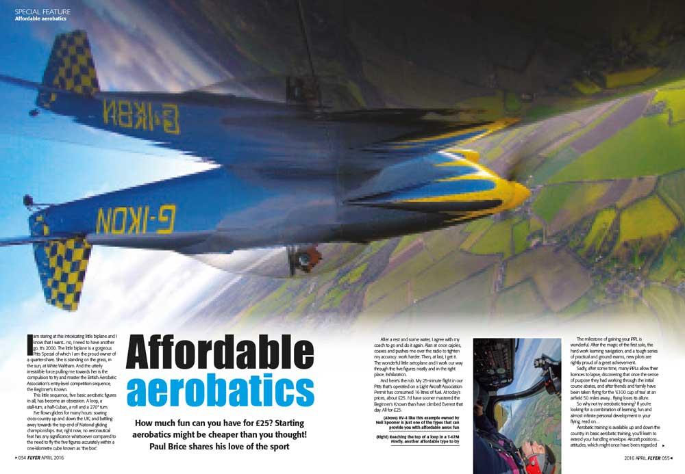 Affordable aerobatics