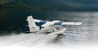 Viking 400S seaplane launch