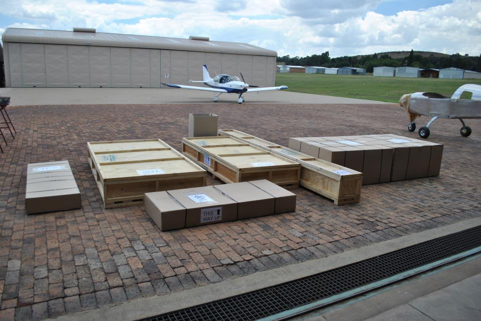 All these boxes! Airplane Factory Kits.