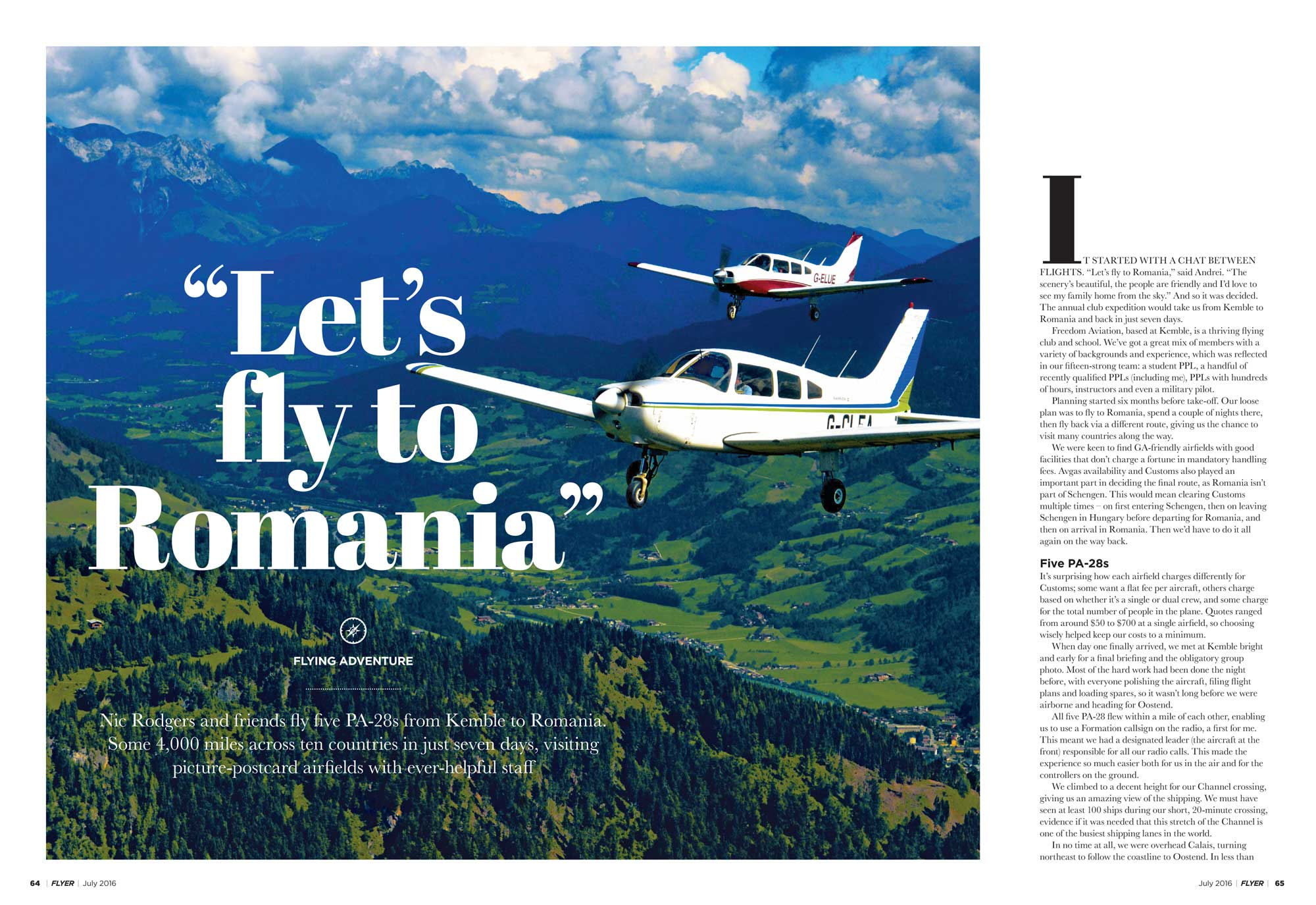 Romania flying adventure