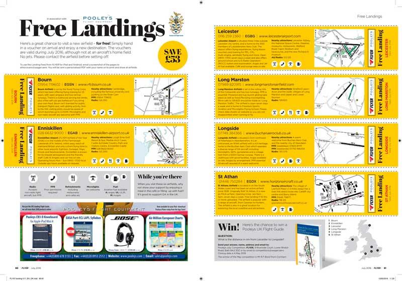 FLYER free landings