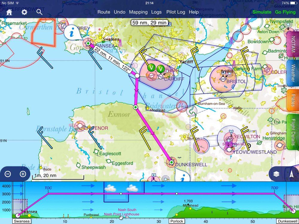 SkyDemon iPad app