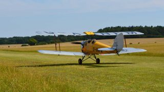 Tiger Moth tailwheel training