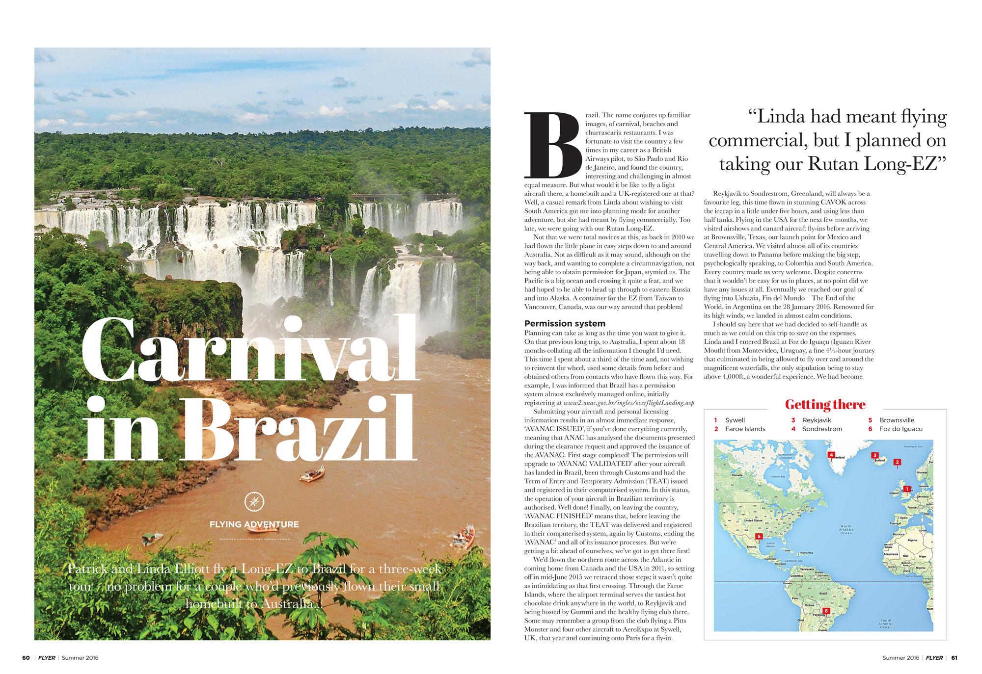 Brazil flying adventure