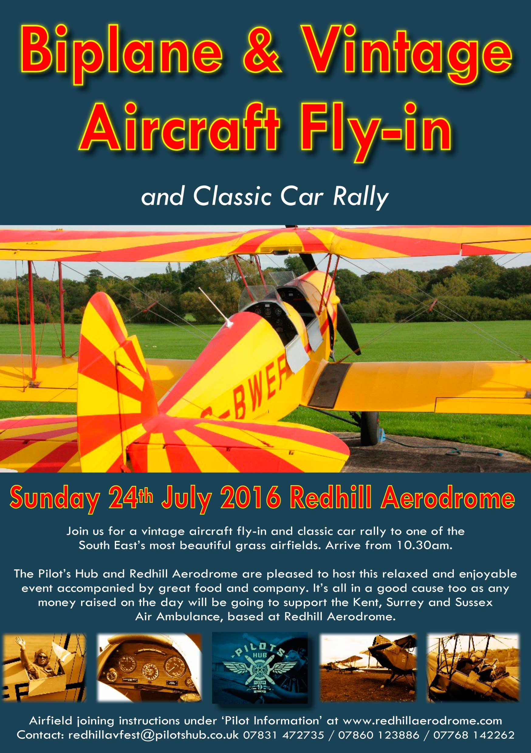 vintage fly-in and classic car rally  redhill