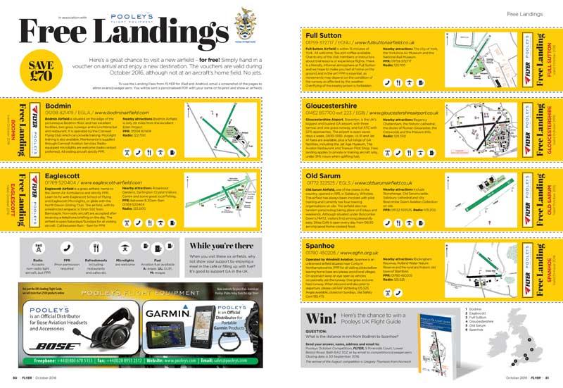 Flyer free landings October 2016