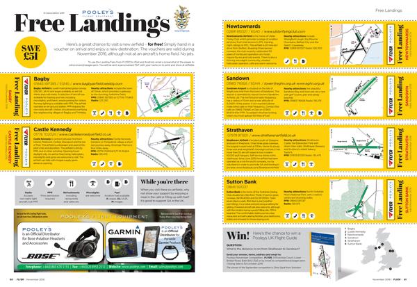 November Flyer free landings