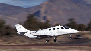 Stratos 714 jet first flight