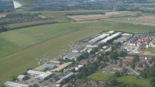 Old Sarum Airfield aerial
