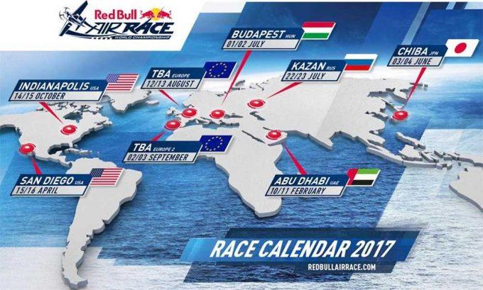 Red Bull Air Races 2017 Calendar