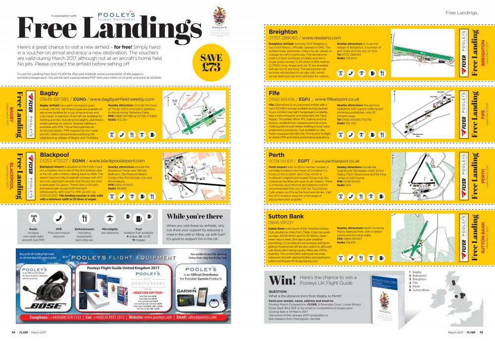 FLYER landing fees March 2017