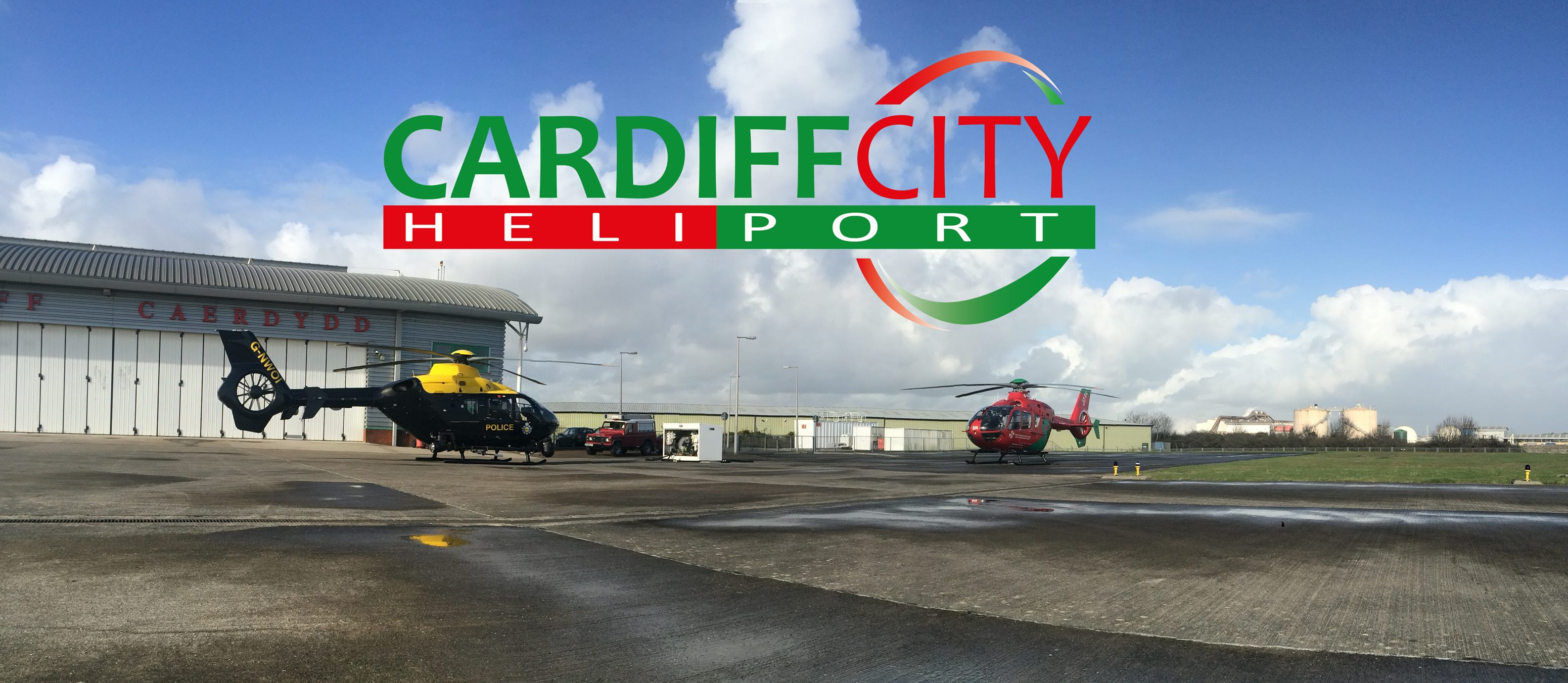 Heliport Open Day And Flyin Cardiff  FLYER