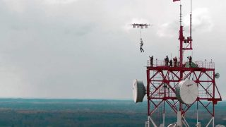 drone parachute jump