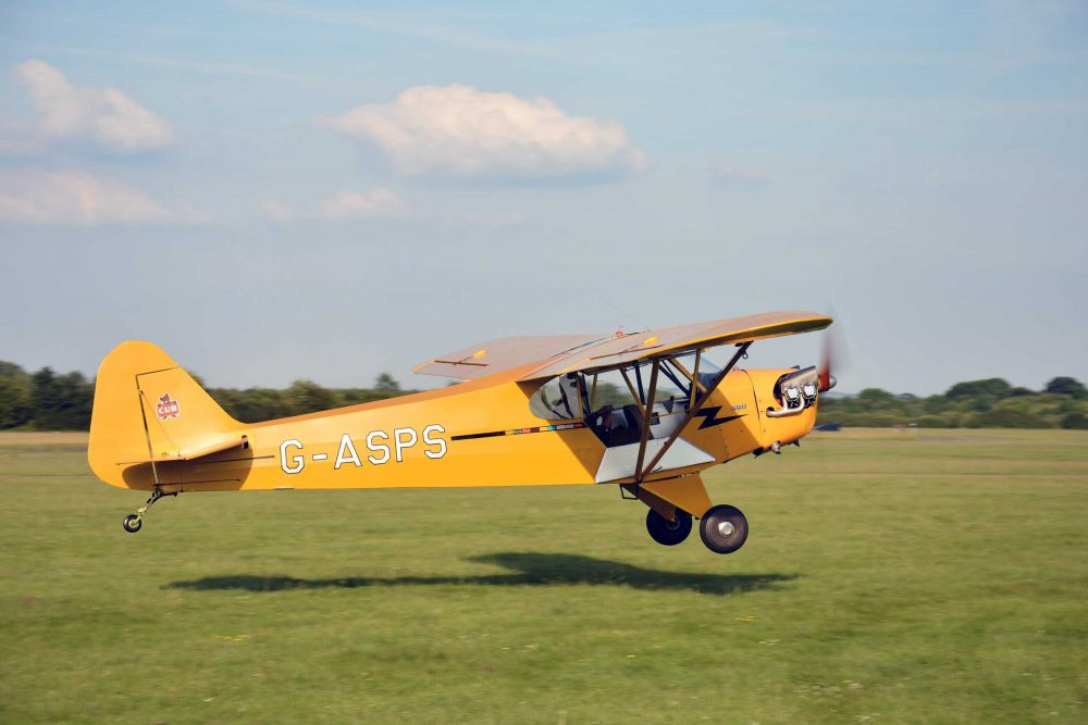 Piper Cub tailwheel training