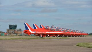 RAF Scampton Red Arrows