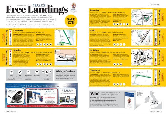 FLYER August 2017 Free Landings