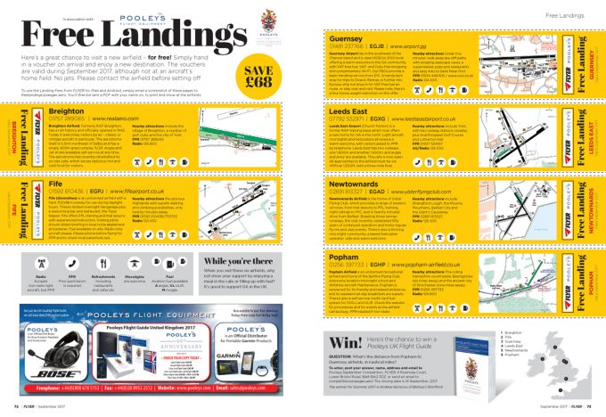 FLYER magazine Landings September 2017