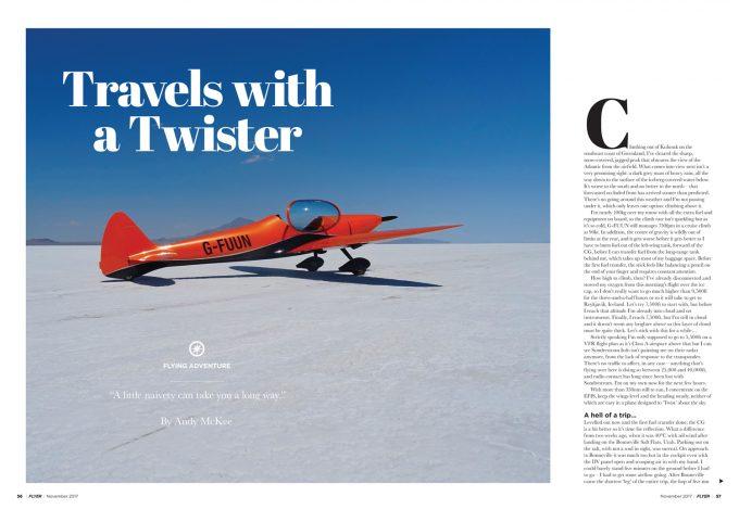 Flyer November 2017 flying adventure