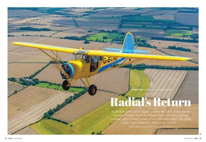 Flyer November 2017 flight test Verner radial