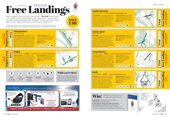 Free landings Flyer November 2017