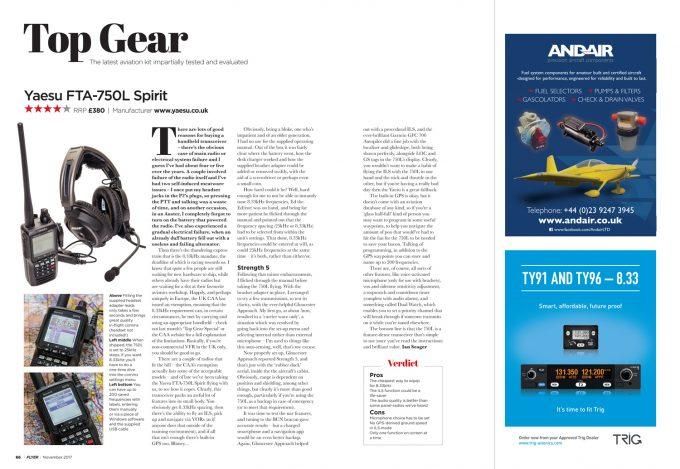 Flyer November 2017 Top Gear