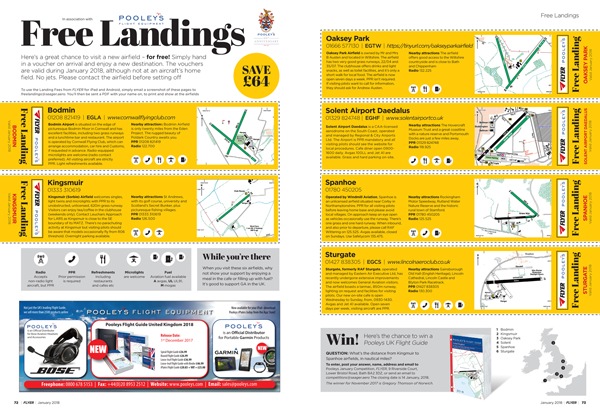 FLYER magazine January 2018 free landing fees