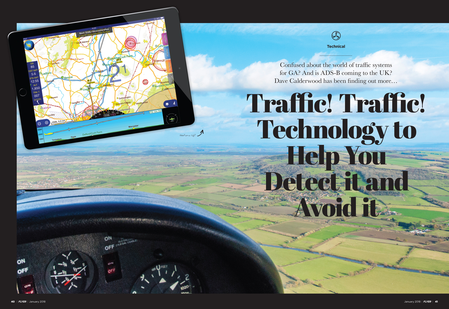 FLYER magazine January 2018 traffic