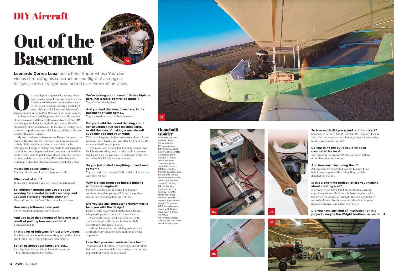 FLYER March 2018 DIY aircraft