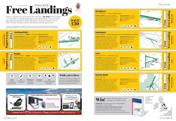 FLYER March 2018 free landings