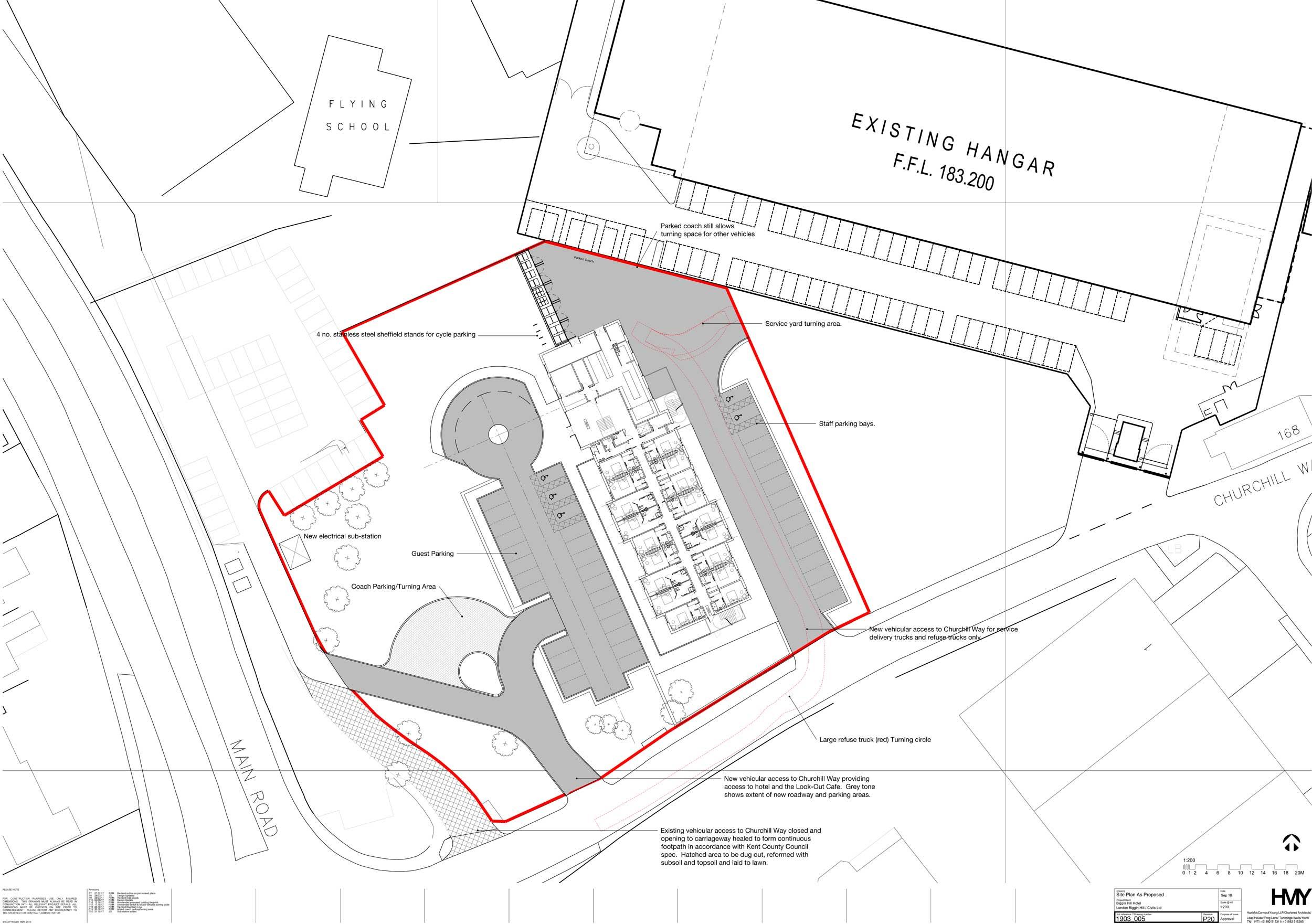 Biggin Hill Hotel plan