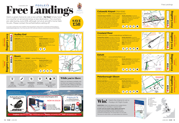 free landings fees only with FLYER