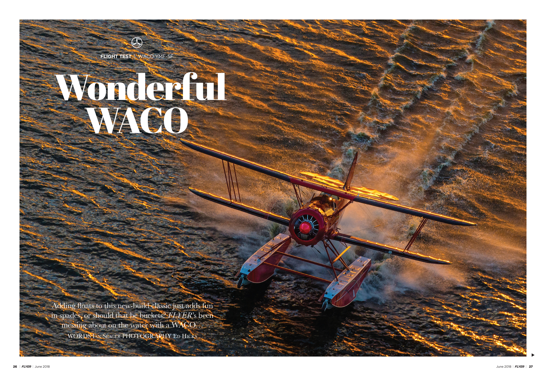 WACO floatplane flight review