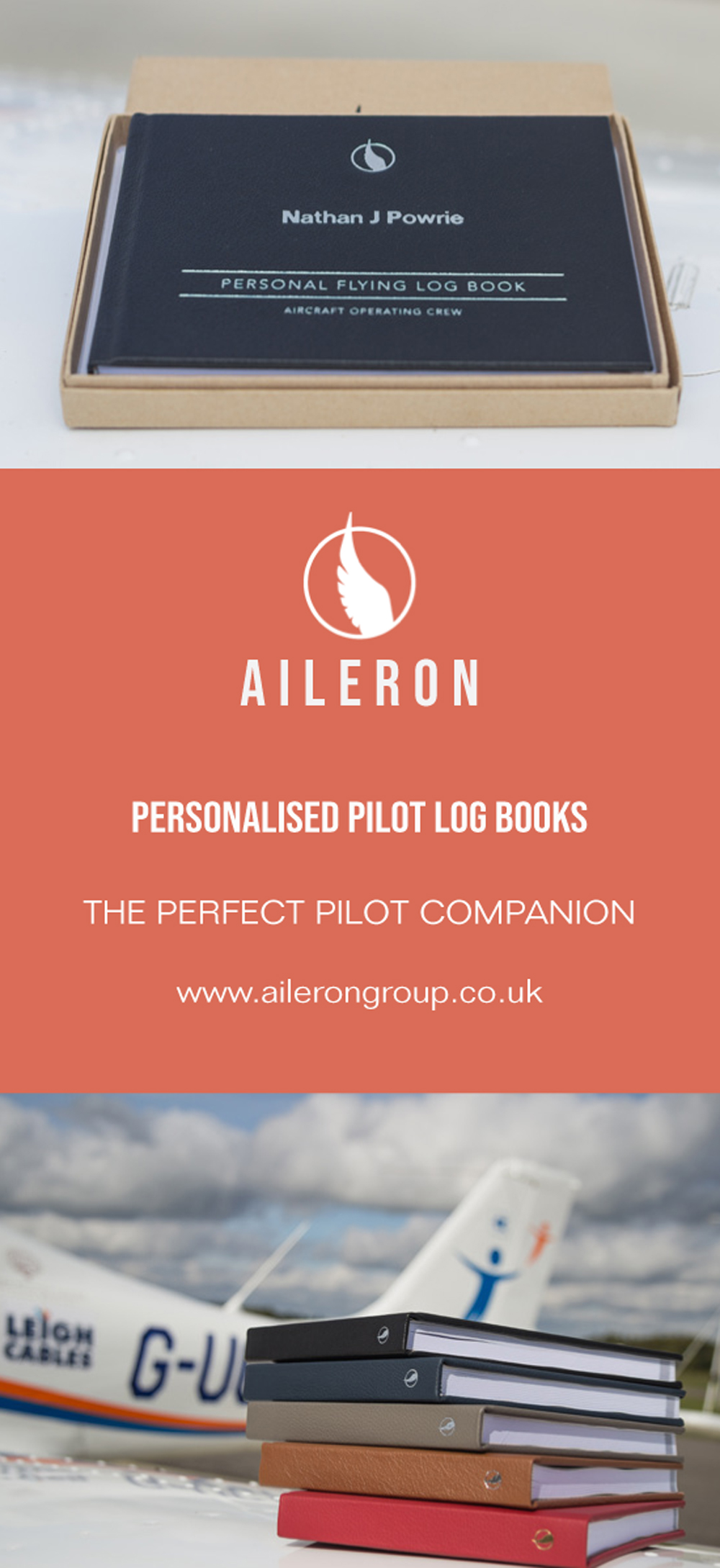 Aileron pilot logbooks