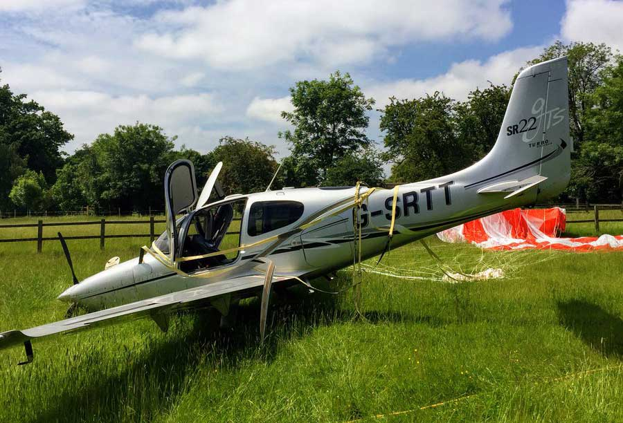 Cirrus forced landing