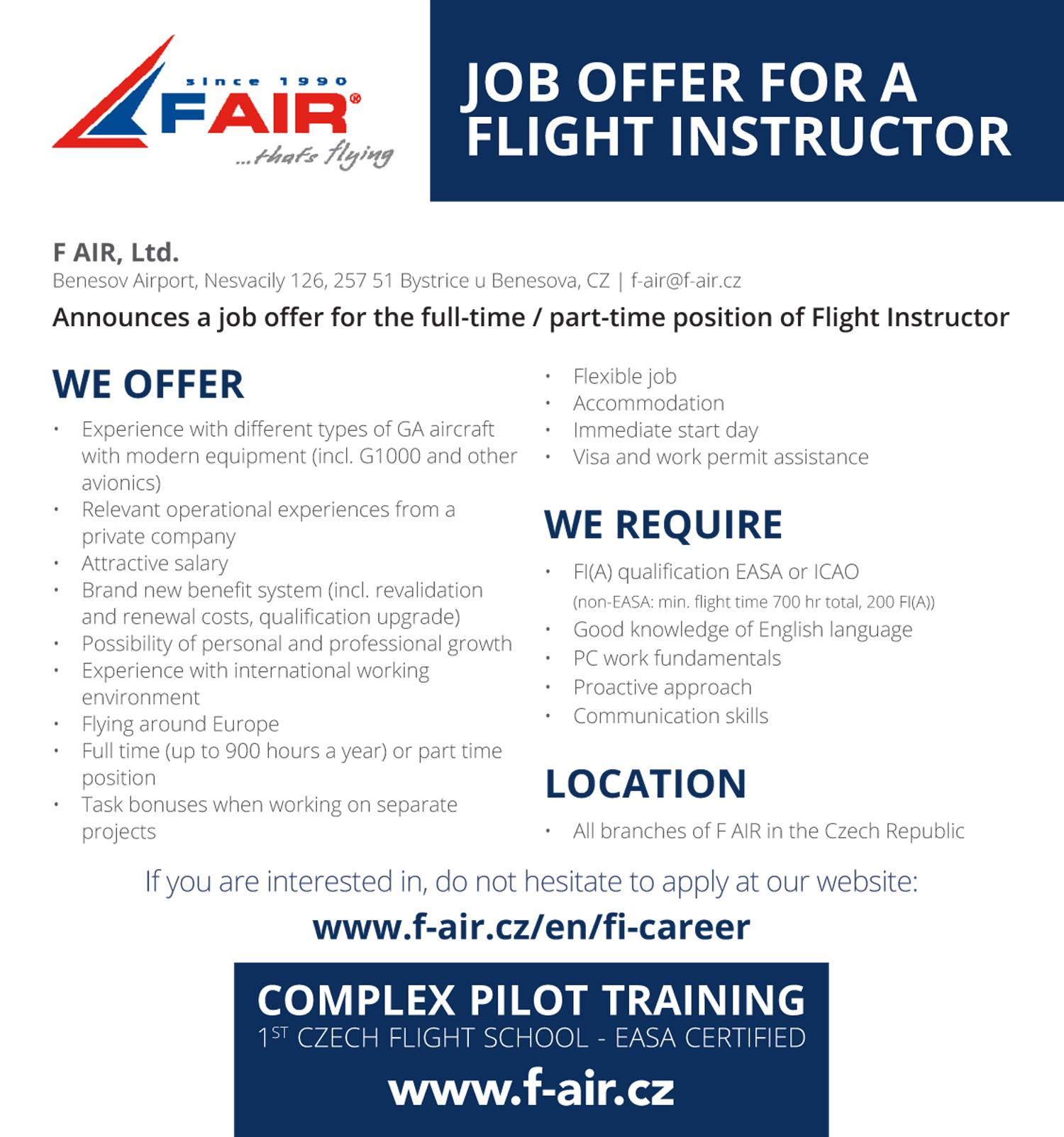 F Air instructors