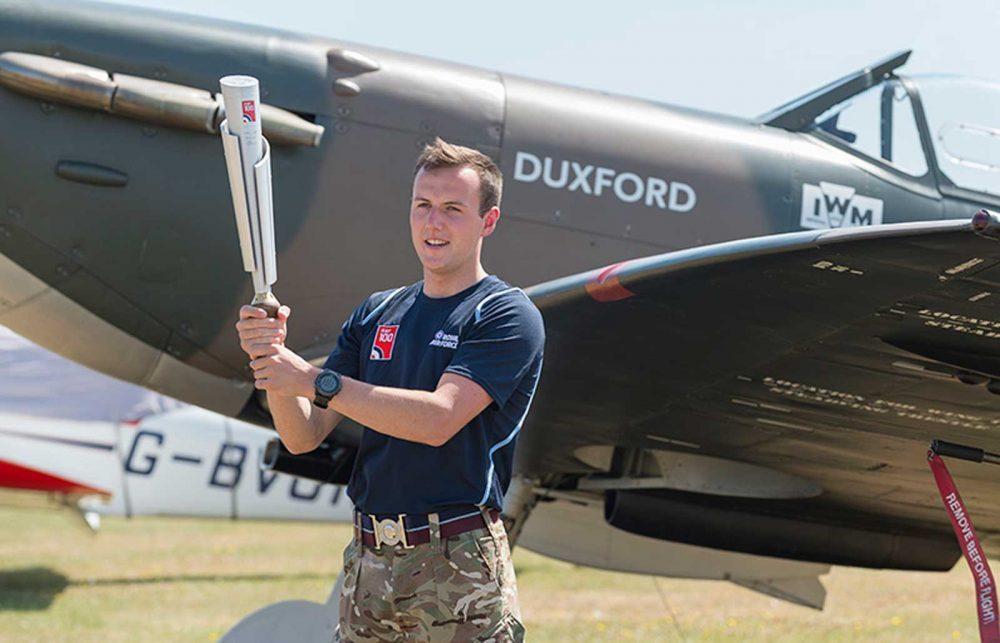RAF 100 baton relay