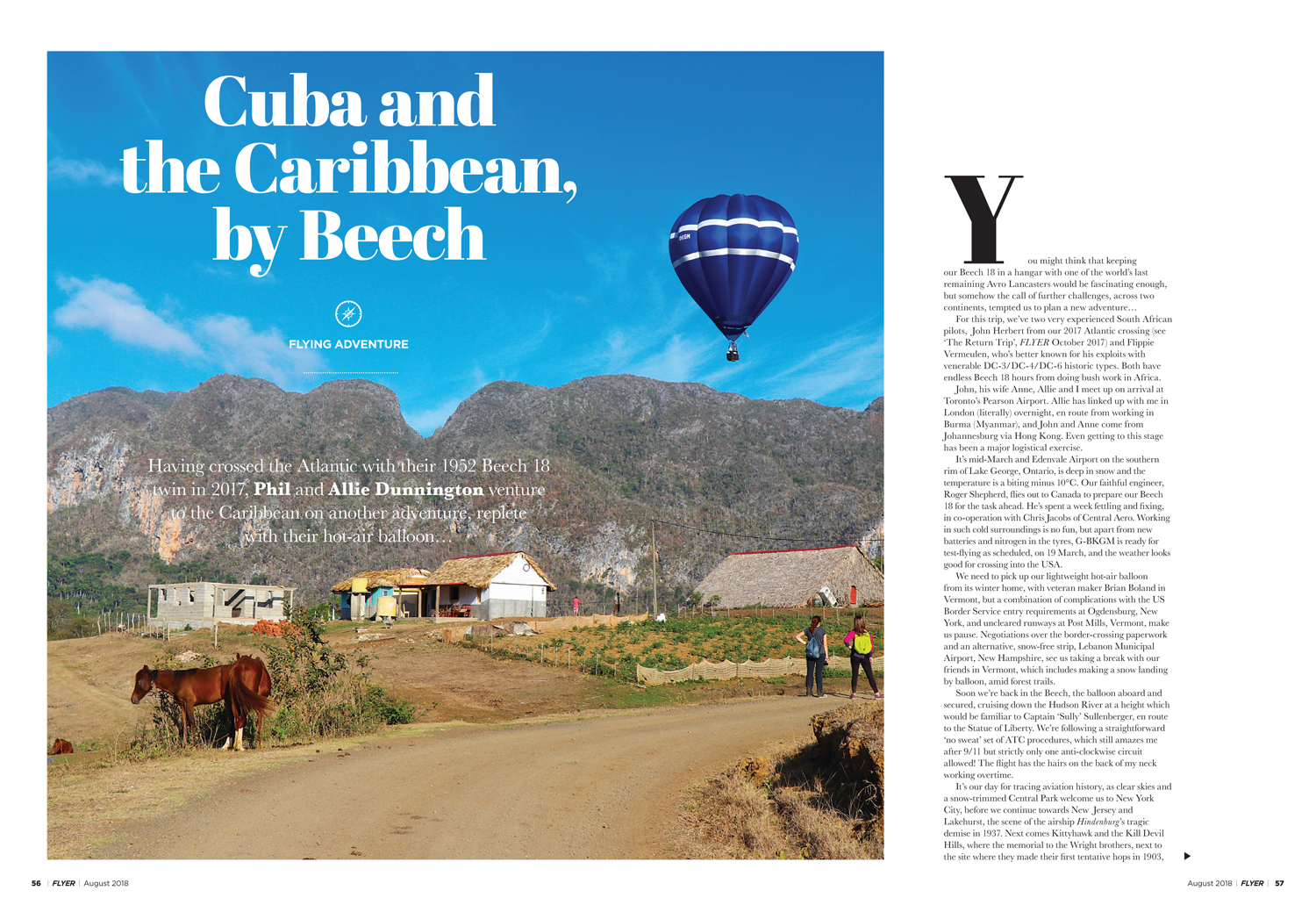 Cuba and Caribbean Beechcraft flying adventure
