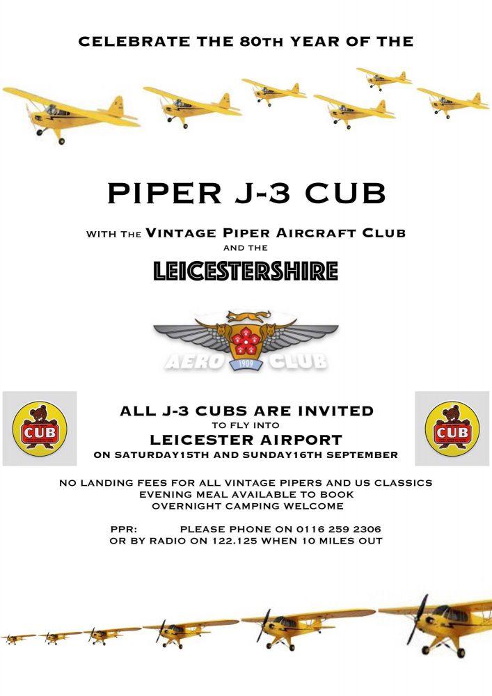 Piper J-3 Cub anniversary 80th