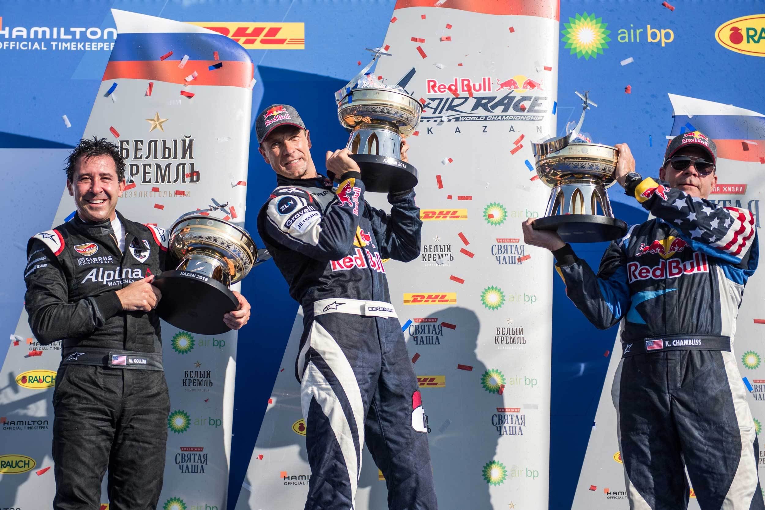 Red Bull air race Russia podium