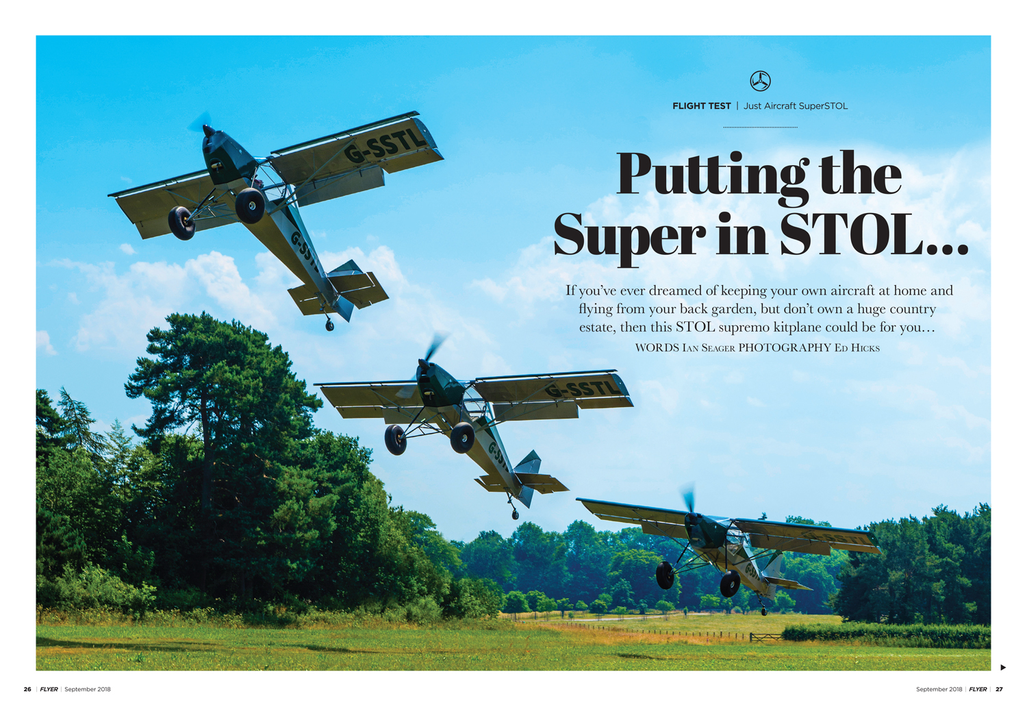 FLYER Sept 2018 SuperSTOL flight test