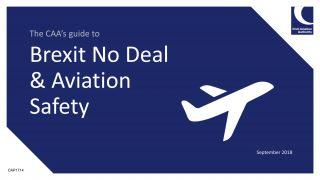 Brexit No-Deal prompts CAA response
