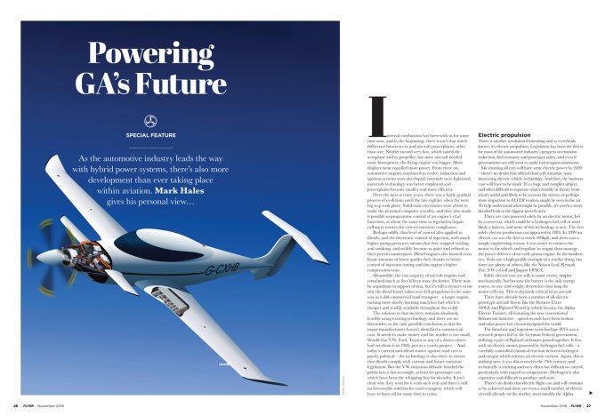 FLYER hybrid aircraft