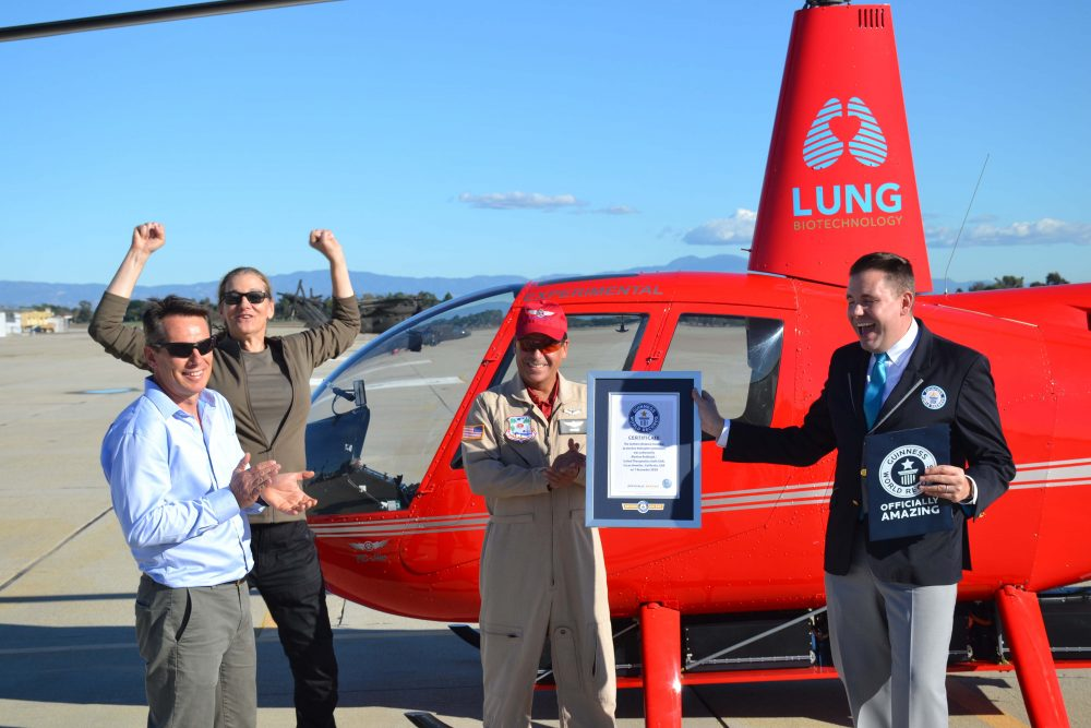 Electric R44 helicopter sets record