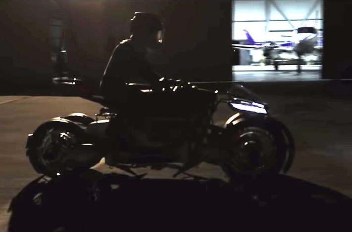 Lazareth jet flying motorcycle