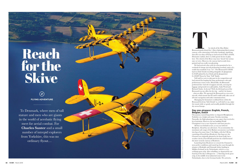 Denmark aerobatics vintage aircraft