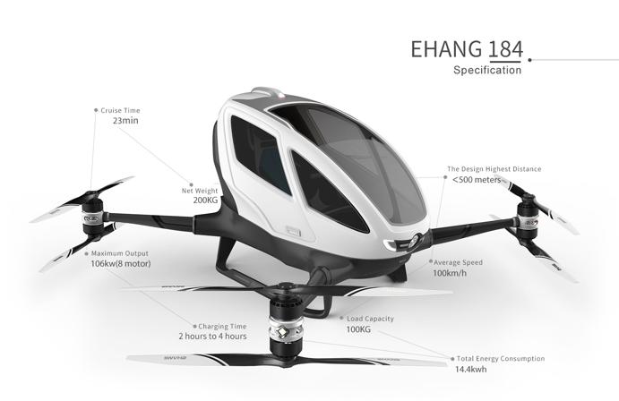 EHang 184 air taxi
