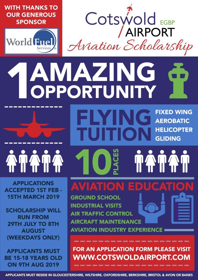 2019 Cotswold Airport aviation scholarships
