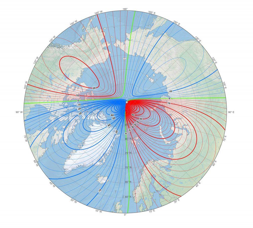 WMM North Pole moving