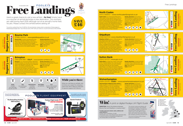 Free landings Flyer April 2019